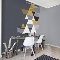 Simple abstraction irregular geometry grey background wall wallpaper personality living room bedroom creative Seamless wallpaper