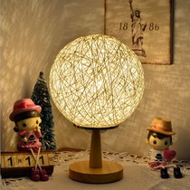 Creative network red girl bedroom ins decorative night light rattan ball lamp room layout Sen Department of gift Network red light