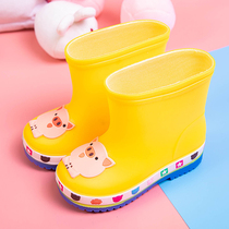 Childrens rain boots boys baby rain boots lightweight non-slip 1-7 girls rubber shoes children infants waterproof shoes