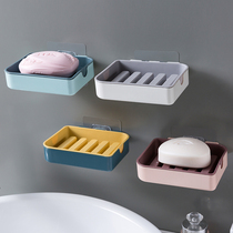 Soap box shelf home toilet drain shelf creative wall hanging double drain box free punch soap box