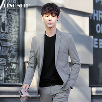 Suit men's suit British wind Korean version of the trend small suit men's casual light light formal coat handsome top single