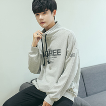 Sweater male Korean version of the loose half-high collar jacket coat students Japanese trend of youth Hong Kong wind autumn new season