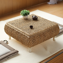 Garden rattan floating window table tatami tea table balcony can be stored small coffee table table low table Kang table and a few tables