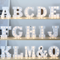 Christmas ins wooden light letters lights red light decoration birthday wedding arrangement stars lights