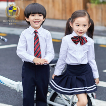 New primary school uniforms three-piece kindergarten uniforms spring and autumn sets in the Big children's shirt school uniforms children's uniforms