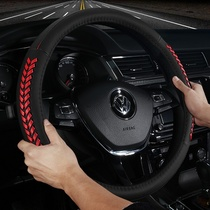Leather car steering wheel cover Volkswagen suetanlangyi meitengtang Guan Bao to Passat Ling du Yuet the set of CC