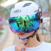 Summer electric car helmet men and women adult scooter on the safety protection hat breathable adjustable