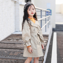 Girl jacket spring and autumn 2019 new autumn Korean version of the Yangyang wind Coat Long children's little girl coat