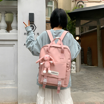 Middle school students school bag female Korean high school students backpack 2019 New ins wind wild simple backpack
