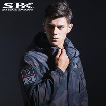 New shelves Taiwan SBK spring and summer leisure electric heating motorcycle riding clothes waterproof warm windproof male motorcycle clothing