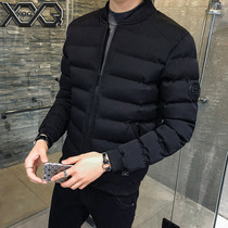 Winter men's jacket 2019 new jacket Korean version slim down cotton cool autumn and winter thick padded cotton