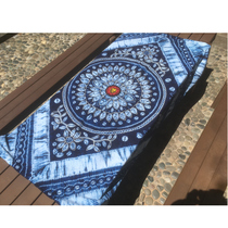 Yunnan handmade tie-dyed tablecloth curtain wall linens restaurant hotel batik bed flag blue dye gift to foreigners