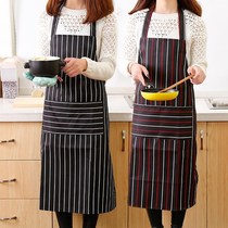 Couple oil-proof sleeves long sleeves waist long section pocket large chef fashion Apron female models overalls home