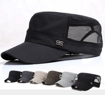 Cap hat spring and summer hat male flat cap middle-aged summer military cap summer outdoor breathable middle-aged father