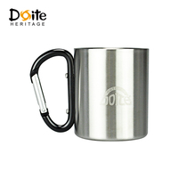 DOITE double insulated stainless steel portable hanging Cup student mini cup handle anti-hot drinking cup