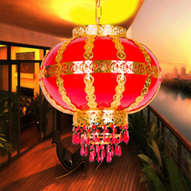 New Year housewarming decoration Chinese wedding balcony Red Lantern Spring Festival chandelier rotating wrought iron durable LED lantern