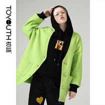 First language 2019 autumn new Popeye IP series cartoon embroidery sweater women loose wear sweater