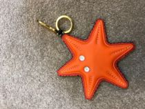 Cuis leather art cuisinl all-steel hardware vacuum plating key ring starfish en cuir hippocampe bag ornements