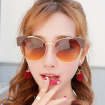 6b60cf779d Sunglasses net red sunglasses female Korean version of the tide retro  Harajuku style 2018 new round