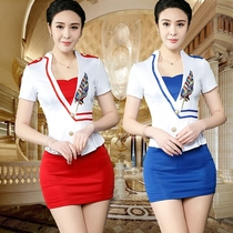 3c74bf5f1696 Foot technician clothing 2019 new sexy foot bath suit slim slim spa  technician clothing professional suit