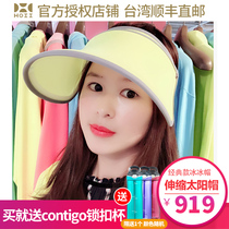 Taiwan Direct mail after Yi Hoii sunscreen shading hat fan Lin zhiling the  same telescopic hat 6c364fc2712f