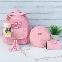 Cute girl fashion shoulder bag children mini small backpack Princess Girl kindergarten student Small bag tour