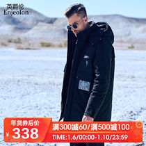 90 velvet white duck down 2019 Winter new long paragraph down jacket loose hooded thick warm jacket coat