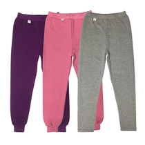 Winter men and women padded warm pants in the elderly three-layer plus-size thick cotton thin cotton pants pants