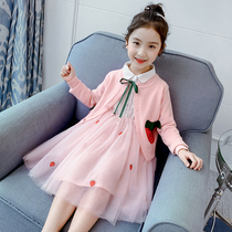 Girl suit spring 2020 new Korean version of the network red gas Children girl skirt children's wear princess skirt two sets