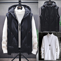 Vest Men's winter Korean version of the trend of sleeveless warm vest waistcoat autumn and winter down cotton clothing