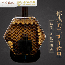 Lehai erhu musical instrument Hongshan Yulong senior professional erhu wood polishing level East Africa black yellow sandalwood huqin