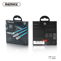 REMAX 3-in-1 cable for lightning Micro USB Type-C 1m long