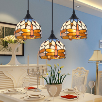 Mediterranean restaurant chandelier Tiffany style lamps 3 Nordic aisle bar chandelier simple European