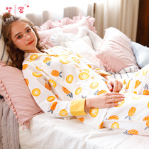 Dream honey cotton gauze month clothes summer pregnant women pajamas thin section spring and autumn maternal nursing nursing clothing postpartum nursing clothing