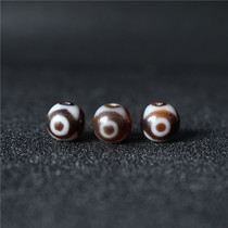 Tibetan natural Agate chalcedony three diamond beads Tibetan diamond beads handmade diy loose beads with beads