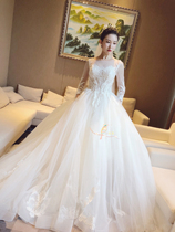 3105ae8379b USD 1039.13  Tube top wedding dress 2018 new gold lace beaded ...