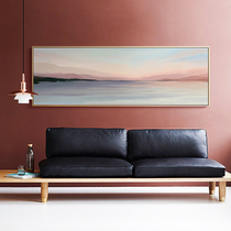 Mei Sen bedroom bedside decorative painting modern minimalist living room background wall banner long strip paintings sea landscape murals