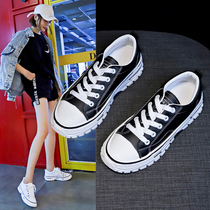 Small white shoes women 2019 autumn new Wild net red shoes ins single shoes British style black sports shoes