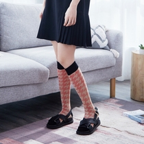 Mito personality wild calf socks female ins Trend Network red tube socks houndstooth cotton pile pile socks 10 color