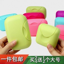 Travel Travel portable seal watertight soap box creative plastic lid large waterproof leakproof soap forest