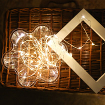 Small lantern decorative string lights dormitory art star Lights Bedroom starry dream room layout copper wire lamp