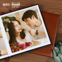 Baby Growth Leather album diy couple wedding photo book custom leather Studio Leather album Cortex