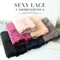 Buy 3 Get 1 free a seamless underwear female ice silk high waist cotton crotch sexy lace large size ladies triangle pants