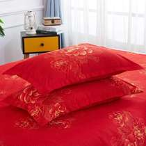 Couple pillow pillow cover 48x74 one pair of two pack cotton pillowcase single double wedding Big Red
