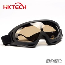 Windproof eyes electric motorcycle mens outdoor riding goggles night vision windshield glasses anti-fog dust multicolor