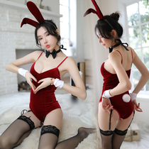 Cute bunny clothes small chest with chest pad sexy lingerie open sailor uniform temptation passion suit