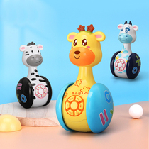 Children baby early education machine infant enlightenment tumbler toy baby with music drop-resistant light will sing