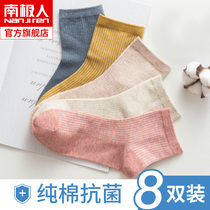Antarctic socks female autumn and winter cotton tube socks summer thin section cotton high tube cotton socks white ladies stockings DB