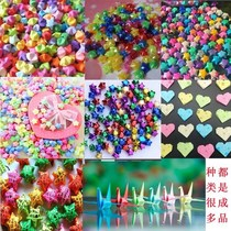 Luminous Lucky Star handmade star finished folding paper luminous wishing plastic straw finished thousands of paper cranes stars