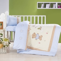 Cotton Kindergarten Quilt Three sets of four seasons by Pure cotton children are napping baby bed bedding six or seven-piece set